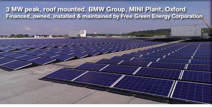 Solar Panel Installation - BMW MINI plant, Oxford